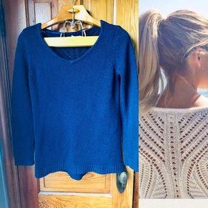 Lc Lauren Conrad pointelle back sweater